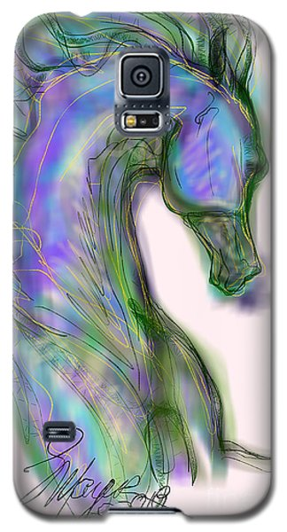 Blue Horse Painting Galaxy S5 Case