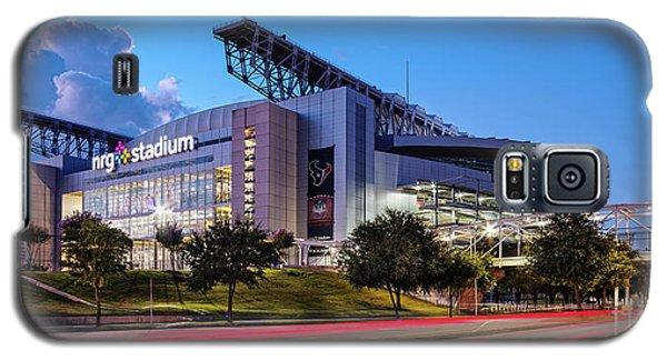 Blue Hour Photograph Of Nrg Stadium - Home Of The Houston Texans - Houston Texas Galaxy S5 Case