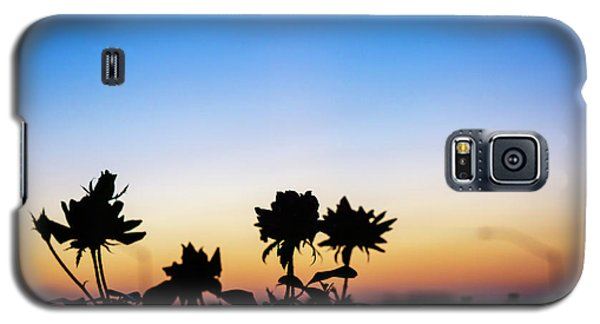 Blue Hour Sunset With Flowers Galaxy S5 Case