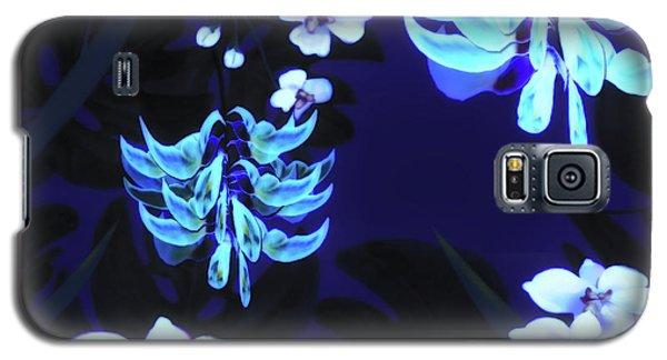 Blue Jungle Floral Galaxy S5 Case
