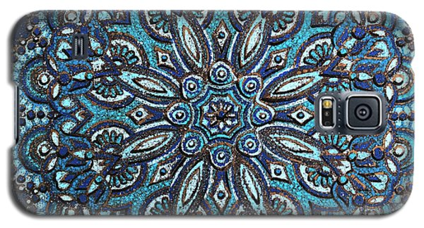 Blue Mandala Galaxy S5 Case