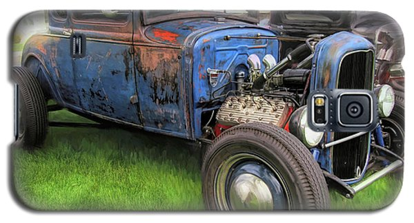 Blue Model A Ford Patina Rod Galaxy S5 Case