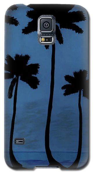 Blue - Night - Beach Galaxy S5 Case