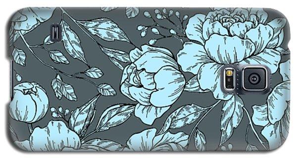 Blue Peonies Galaxy S5 Case