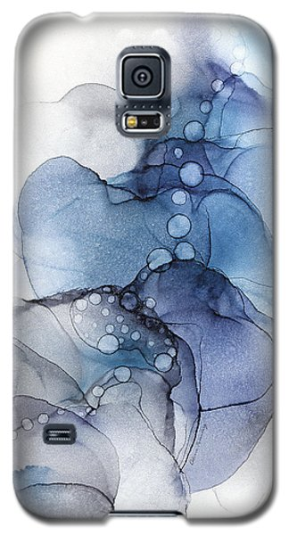 Blue Petal Dots Whispy Abstract Painting Galaxy S5 Case