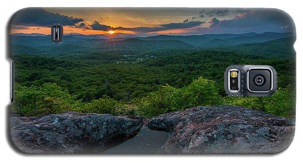Blue Ridge Mountain Sunset Galaxy S5 Case