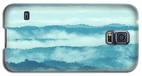 Blue Ridge Mountains Layers Upon Layers In Fog Galaxy S5 Case