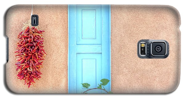 Blue Shutters And Chili Peppers Galaxy S5 Case