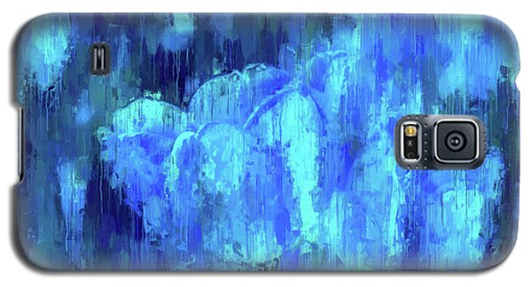 Blue Tulips On A Rainy Day Galaxy S5 Case