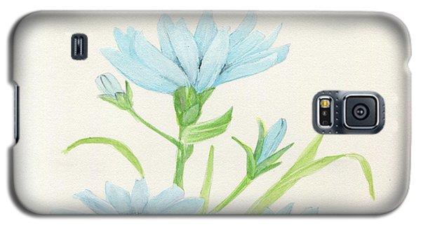 Blue Wildflowers Watercolor Galaxy S5 Case