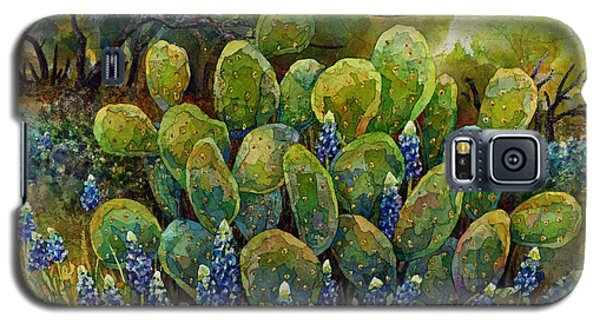 Bluebonnets And Cactus 2 Galaxy S5 Case