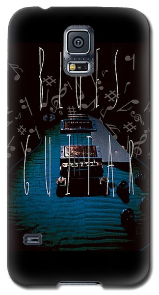 Blues Guitar Music Notes Galaxy S5 Case