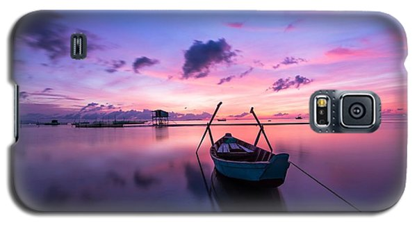 Boat Under The Sunset Galaxy S5 Case