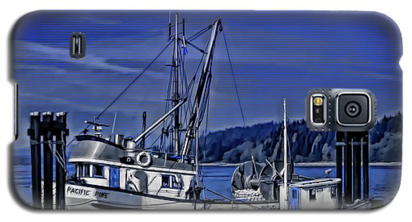 Boats At An Island Dock Galaxy S5 Case