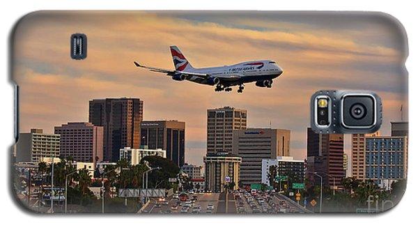 Boeing 747 Landing In San Diego Galaxy S5 Case