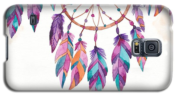 Boho Dreamcatcher - Boho Chic Ethnic Nursery Art Poster Print Galaxy S5 Case