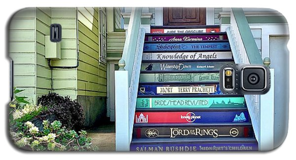 Galaxy S5 Case - Book Stairs House by Julie Gebhardt