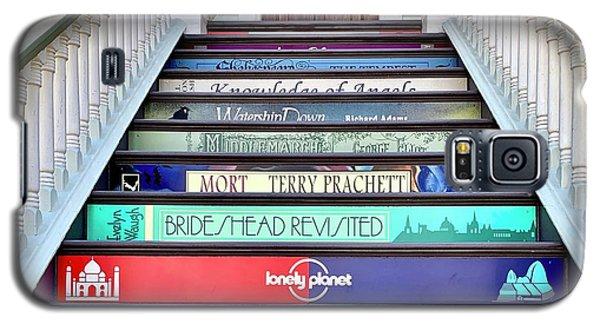 Galaxy S5 Case - Book Stairs by Julie Gebhardt