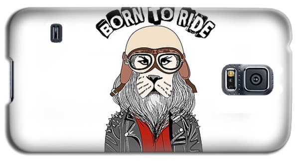 Born To Ride - Baby Room Nursery Art Poster Print Galaxy S5 Case