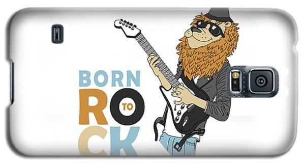 Born To Rock - Baby Room Nursery Art Poster Print Galaxy S5 Case