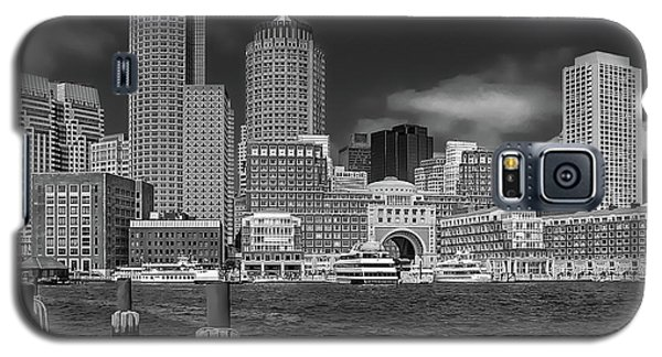 Boston Harbor Skyline Galaxy S5 Case