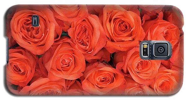 Bouquet Of The  Living Coral Roses Galaxy S5 Case