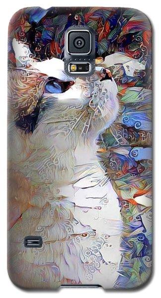 Brady The Half Siamese Half Tabby Cat Galaxy S5 Case