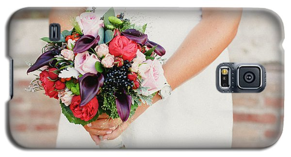 Bridal Bouquet Held By Her With Her Hands At Her Wedding Galaxy S5 Case