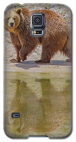 Brown Bear Reflection Galaxy S5 Case