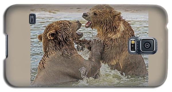 Brown Bears Fighting Galaxy S5 Case