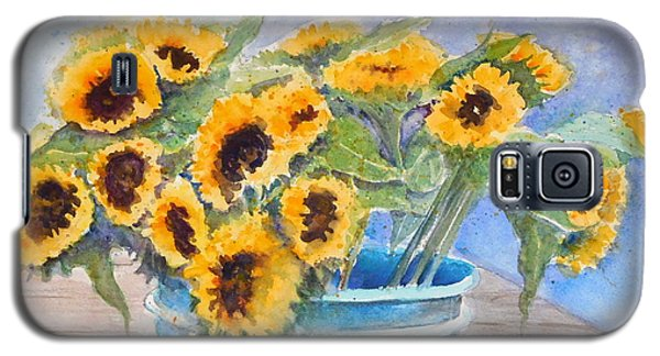 Bucket Of Sunflowers Galaxy S5 Case