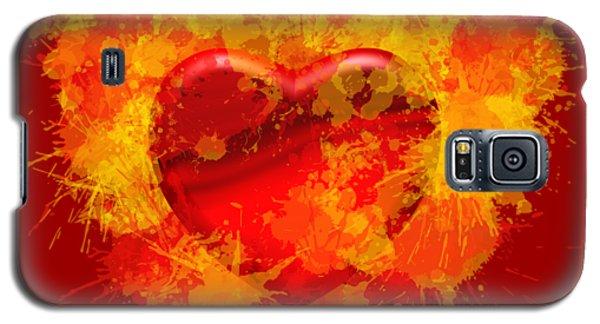 Burning Heart Galaxy S5 Case