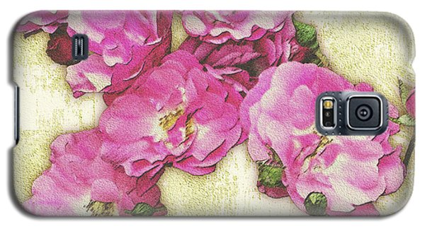 Bush Roses Painted On Sandstone Galaxy S5 Case