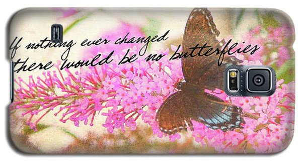 Butterfly Kisses Quote Galaxy S5 Case