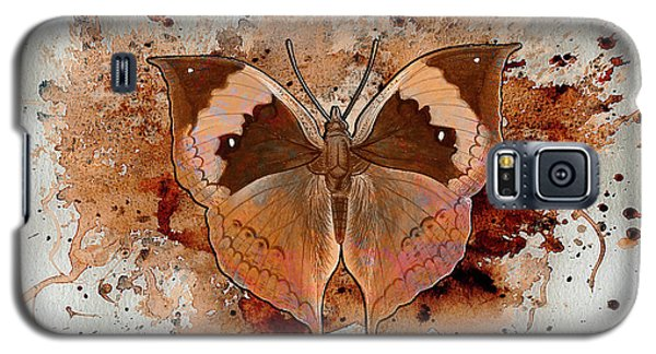 Galaxy S5 Case featuring the digital art Butterfly Splash by Jacqui Boonstra