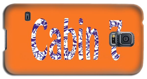 Cabin 7 Blue White Orange Galaxy S5 Case