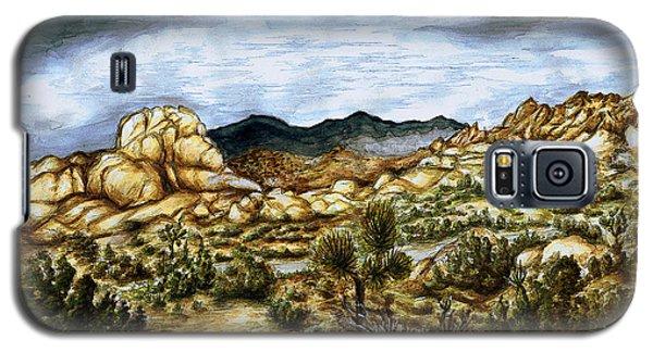 California Desert Landscape - Watercolor Art Painting Galaxy S5 Case