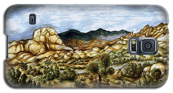 California Desert Landscape - Watercolor Art Painting Galaxy S5 Case
