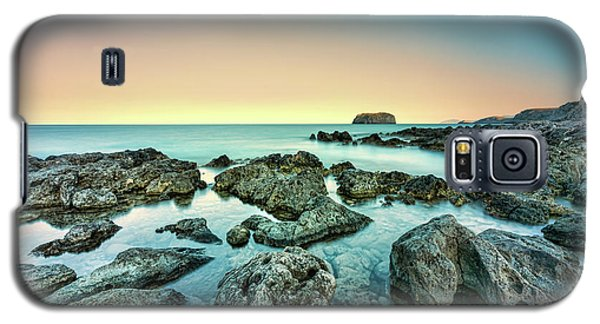 Calm Rocky Coast In Greece Galaxy S5 Case