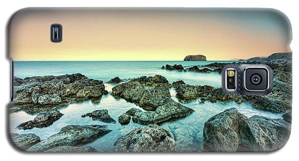 Calm Rocky Coast In Greece Galaxy S5 Case