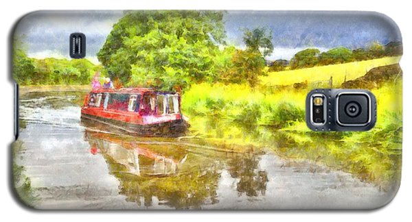Canal Boat On The Leeds To Liverpool Canal Galaxy S5 Case