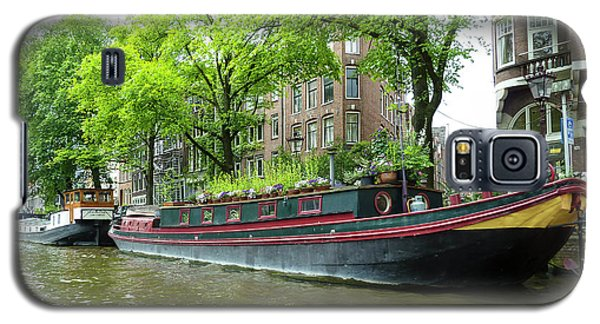 Canal Boats In Amsterdam - 2 Galaxy S5 Case