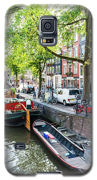 Canal Boats In Amsterdam Galaxy S5 Case