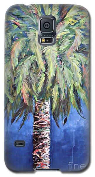 Canary Island Palm- Warm Blue I Galaxy S5 Case