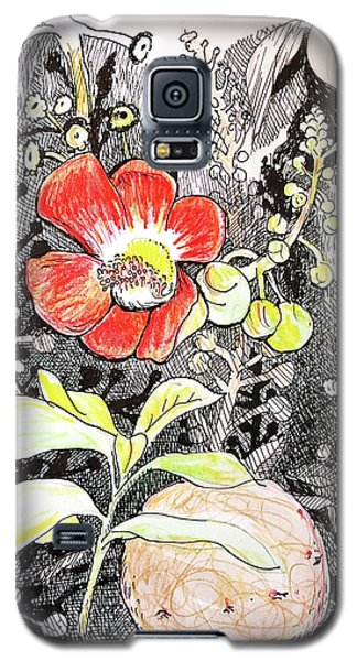 Cannonball Flower Botanical Galaxy S5 Case