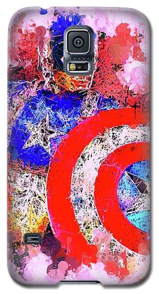 Captain America Watercolor Galaxy S5 Case