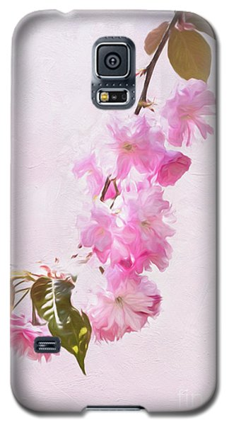 Cascading Kwanzan Cherry Blossoms Galaxy S5 Case