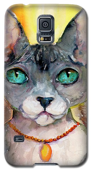 Cat Portrait My Name Is Adorable Galaxy S5 Case