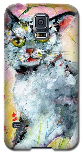 Cat Portrait My Name Is Hobo Galaxy S5 Case