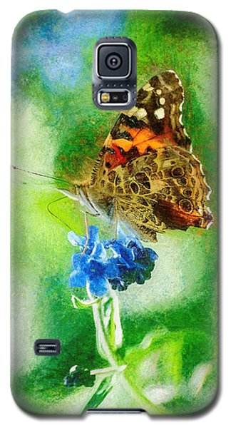 Chalky Painted Lady Butterfly Galaxy S5 Case